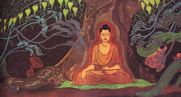 Buddha under trädet