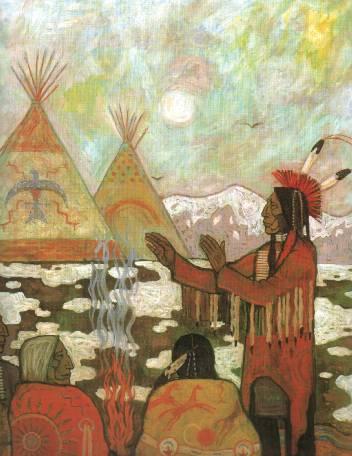 Indianmålning av Frithjof Schuon