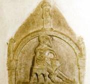 Relief i Heda kyrka