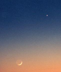 Nymåne & vit stjärna